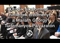 Embedded thumbnail for Ötödik alkalommal hirdettek eredményt a Mailáth György Tudományos Pályázaton
