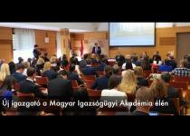 Embedded thumbnail for Új igazgató a Magyar Igazságügyi Akadémia élén